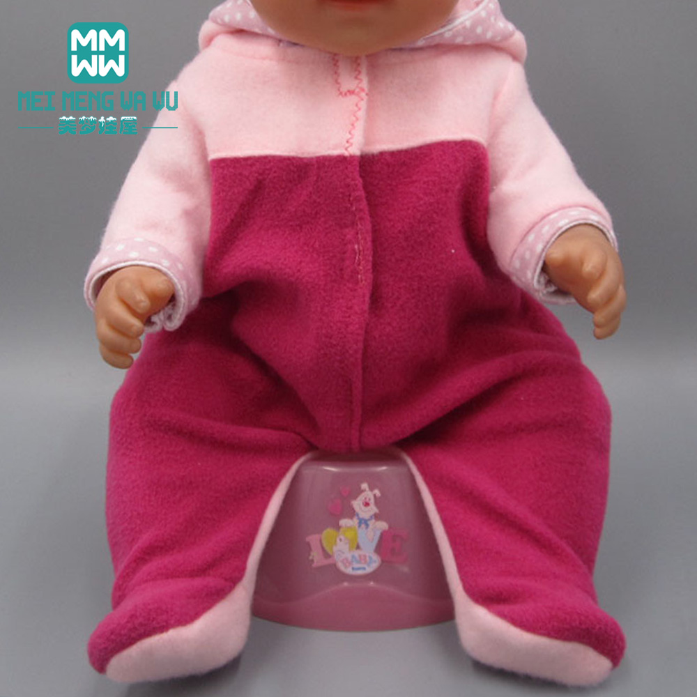 Doll Clothes For 43cm Baby Doll Crawling Clothes With Hood Clothes Toys For Girls