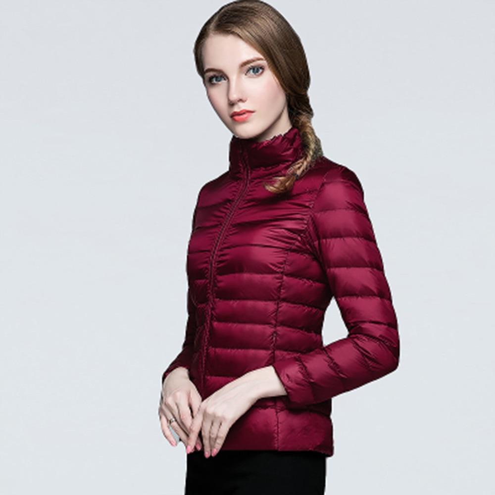 2016 Women Ultra Light Down Jacket Winter Duck Down