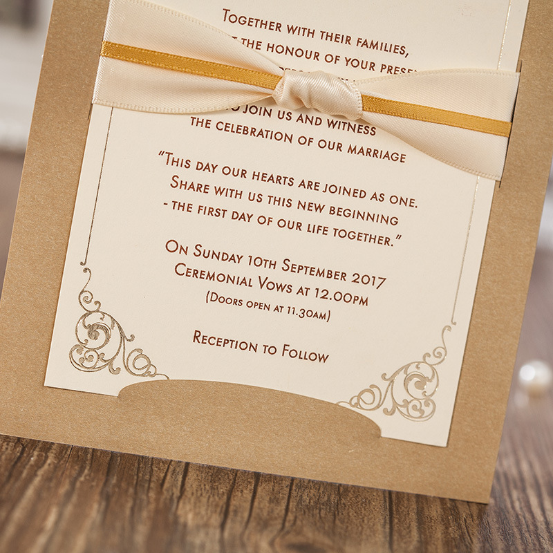 Luxury Laser Cut Wedding Invitation Card Business Evening Invitations Party Ceremony Invites Envelope Printing In Cards From