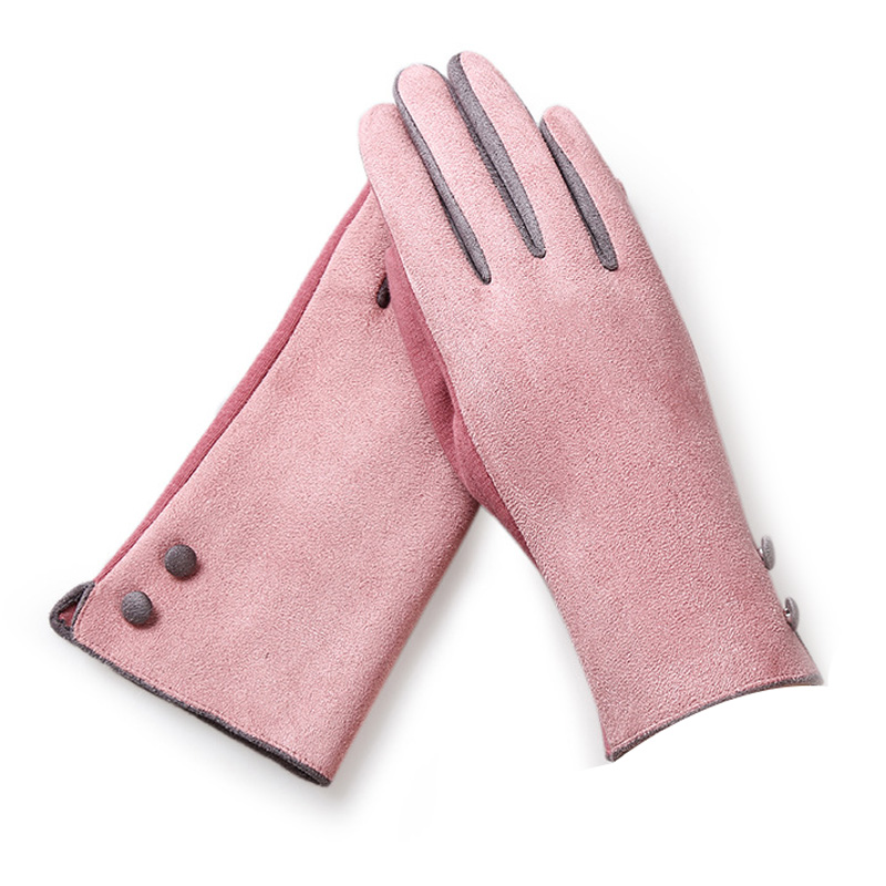 Ladies winter outdoor warm gloves lady gloves touch screen functional gloves