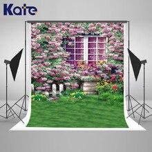 Kate 200×300 Primavera Rosa Flores Retro Janela Fotografia Fundos Para Estúdio de Fotografia Fundo Pastagem Photo Booth Fundo