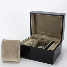 Black Wooden Watch Display Box