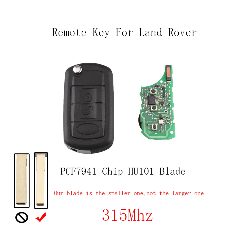 315mhz 3buttons Remote Keyless Key Fob Transponder Chip Pcf7941 For Range Rover Sport Land Rover Discovery 3 Hu101 Blade Preventing Hairs From Graying And Helpful To Retain Complexion Car Key