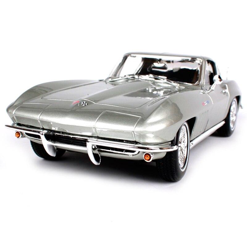 Maisto 1:18 1965 chevrolet chevelle argent bleu voiture moulé sous pression 242*100*68mm de luxe exquis voitures modèle vieux voiture jouet pour hommes 31640