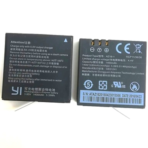 Image 5 - Original Für Xiaomi YI 4K Batterie AZ16 1 USB LCD Dual Ladegerät Action Kamera 2 4k + Lite Zubehör 1400mAh Akku