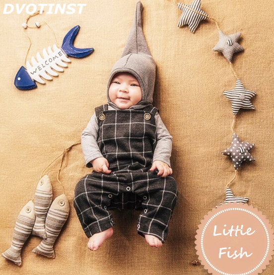 Dvotinst Newborn Baby Photography Props Fishing Fisherman Theme Background Clothes Set Fotografia Accessory Studio Shooting Prop dark blue middle waist skinny shredded ripped jeans with four pockets