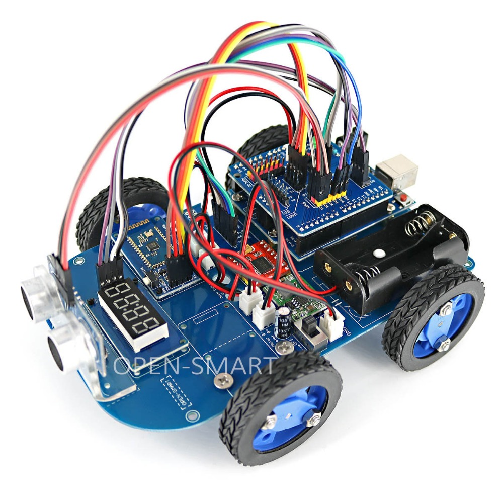 N20 Gear Motor 4WD Bluetooth Controlled Smart Robot Car Kit with Tutorial for Arduino