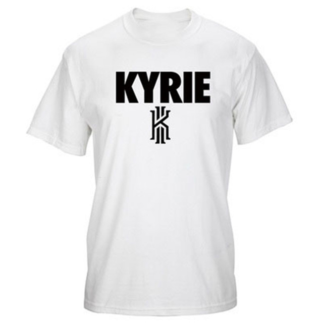 online store e6684 eba9e Summer Fashion Men Casual Women T shirt Letter Kyrie Irving loose Tees Tops  over size o-neck hipster Cotton T-shirt T-F11459