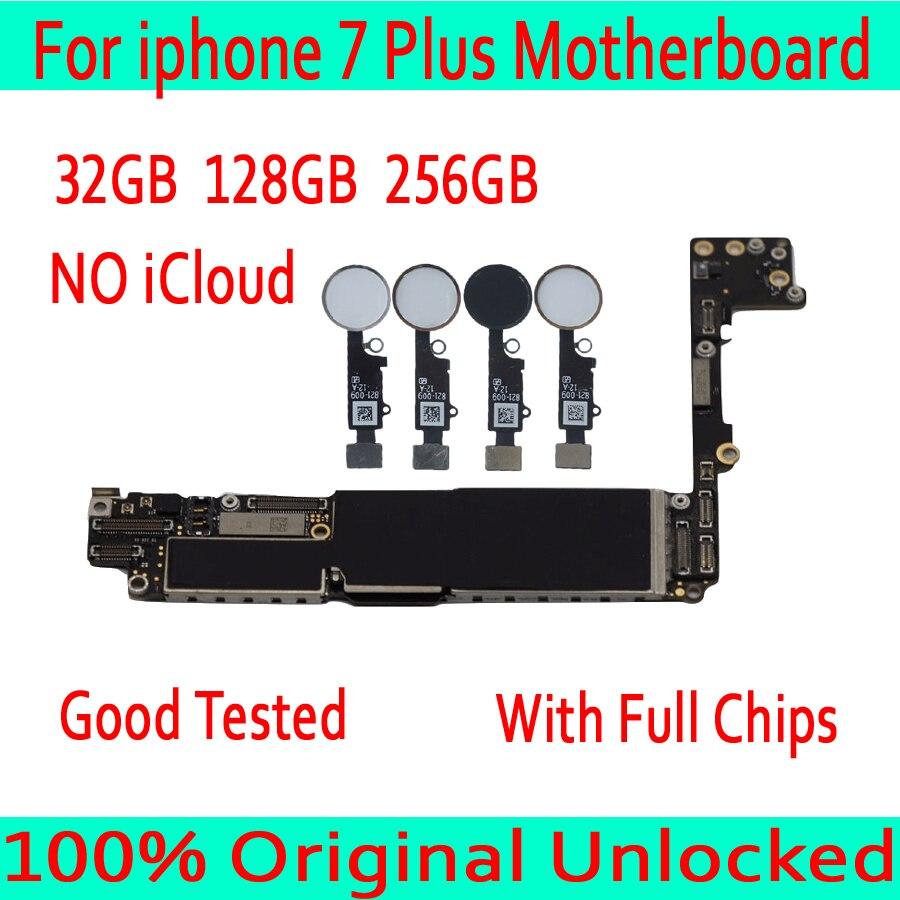 32GB 128GB 256GB für iphone 7 Plus Motherboard mit/ohne Touch ID, original entsperrt Motherboard für iphone 7 Plus Mainboard
