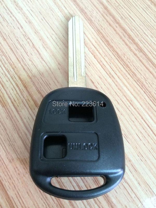 2 Button Remote key Case Key Shell Toyota Camry/Corolla/Prado/Yaris TOY43 Blade Good Quality - Auto world store