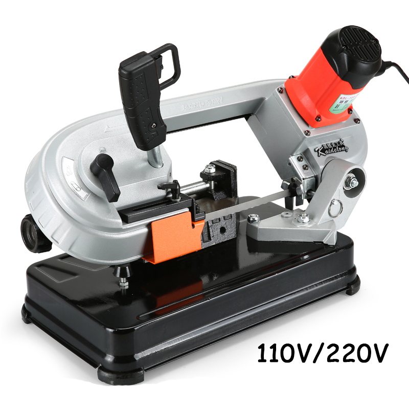 Multi function variable speed saw mini metal / woodworking band saw household electric cutting machine DLY 100