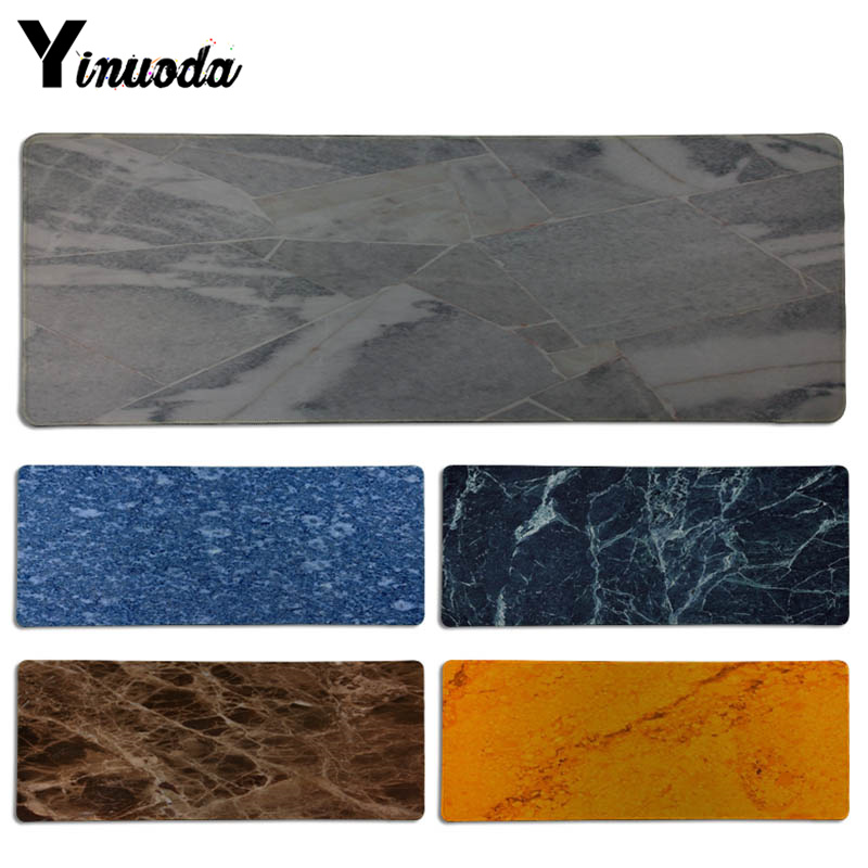 Yinuoda New Designs Marble texture Keyboard Gaming MousePads Size for 300*700*2mm and 300*900*2mm Game Mousepad