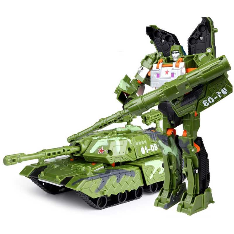 ילדי רובוט צעצוע שינוי אנימה סדרת פעולה איור צעצוע רובוט רכב ABS פלסטיק דגם לילדים