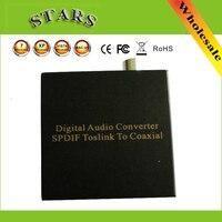 Nieuwe Digitale Audio Converter SPDIF Toslink NAAR Coax Adapter Schakelaar met Fibre Optische, Groothandel Gratis Verzending Dropshipping