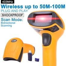 Портативный Беспроводной Сканер Штрих-Кода 433 МГц 100 м до 300 м Расстояние Беспроводной USB Считывания Штрих-Кода для POS и инвентаризация-NT-2028