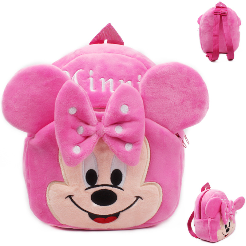 New 2015 Mickey and Minnie Kid plush Backpack Children School Bag For Girl Boy Student Schoolbag baby cute mini bags