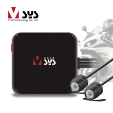 Vsys C6L Mini Motorcycle DVR font b Camera b font Recorder D1 Dual Separate Waterproof Lens