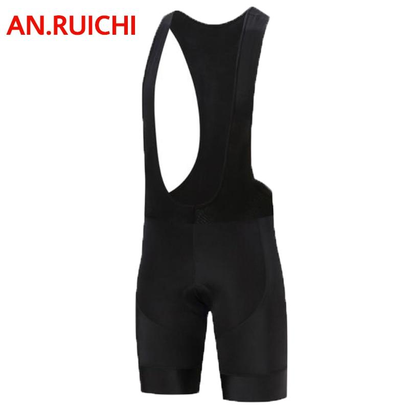 an.ruichi Classic Blac 9D Padded Shockproof Cycling Shorts 100% Lycra MTB Bicycle Shorts Road Bike Shoulder strap Shorts