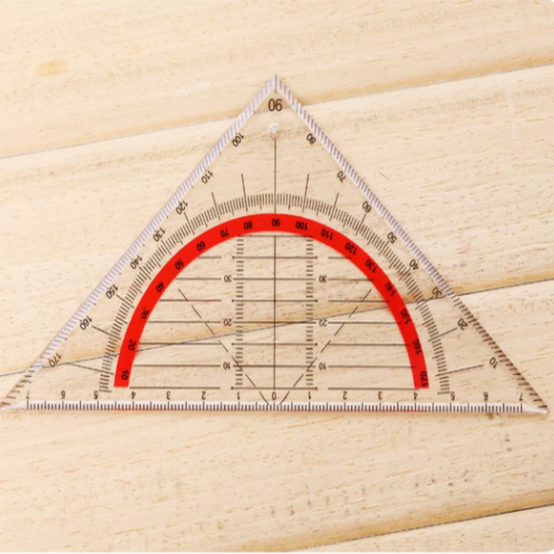 DHL 200PC Students Stationery Office Multi-function Set Square Triangle Multifunctional Ruler Protractor Triangle Coordinate