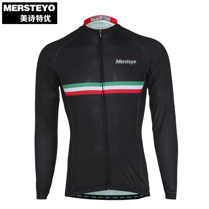 MERSTEYO Pro Men Bike jersey Long Sleeve Team Cycling clothing Cool Black Winter Male MT ...