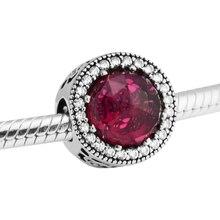Pandulaso Красота и чудовище Radiant Rose cerise Бусины и бисер стерлингового серебра Fit европейской браслет для женщины ювелирные изделия