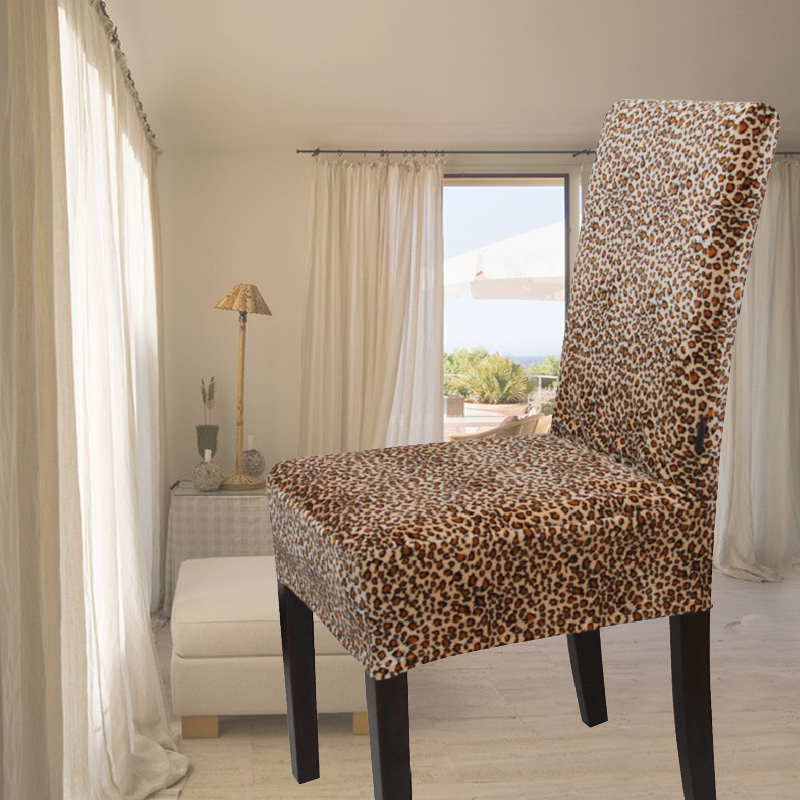 Gold Velvet Leopard Print All Inclusive One Piece Chair Cover Dining Chair Set Professional Customize Taobao Best Workmanship Chair Round Chair Benchchair Glass Aliexpress