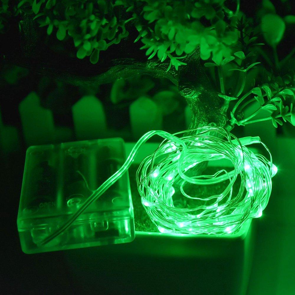 2M / 6.5ft 20 LED სიმებიანი შუქის - სადღესასწაულო განათება - ფოტო 2