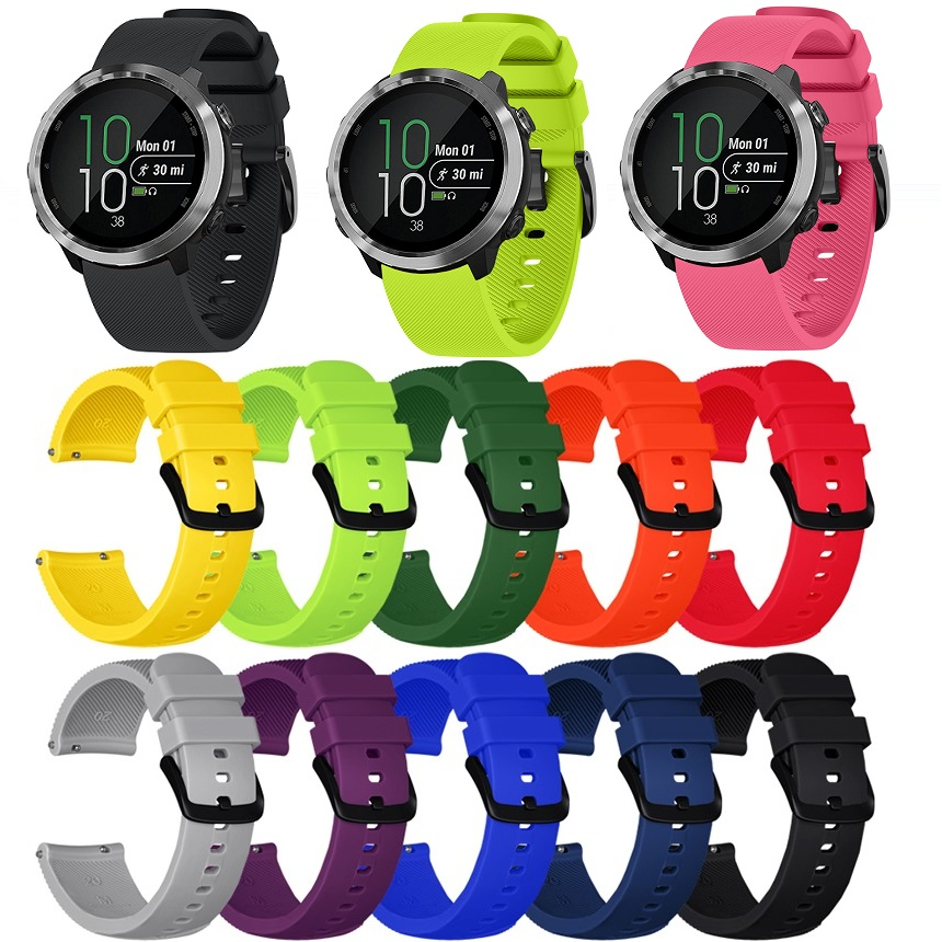 New Silicone Smart Watch Strap FOR Garmin Vivoactive 3 Band Vivomove HR Watchband FOR Garmin Forerunner 645  For Huami  GTS 20mm