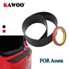 KAWOO For Acura RDX MDX TL RSX DC5 TSX CL9 Rubber Rear Guard Bumper Protect Trim Cover Sill Mat Pad Car Styling Accessories