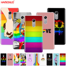 HAMEINUO Gay Lesbian LGBT Rainbow Pride ART Cover phone Case for