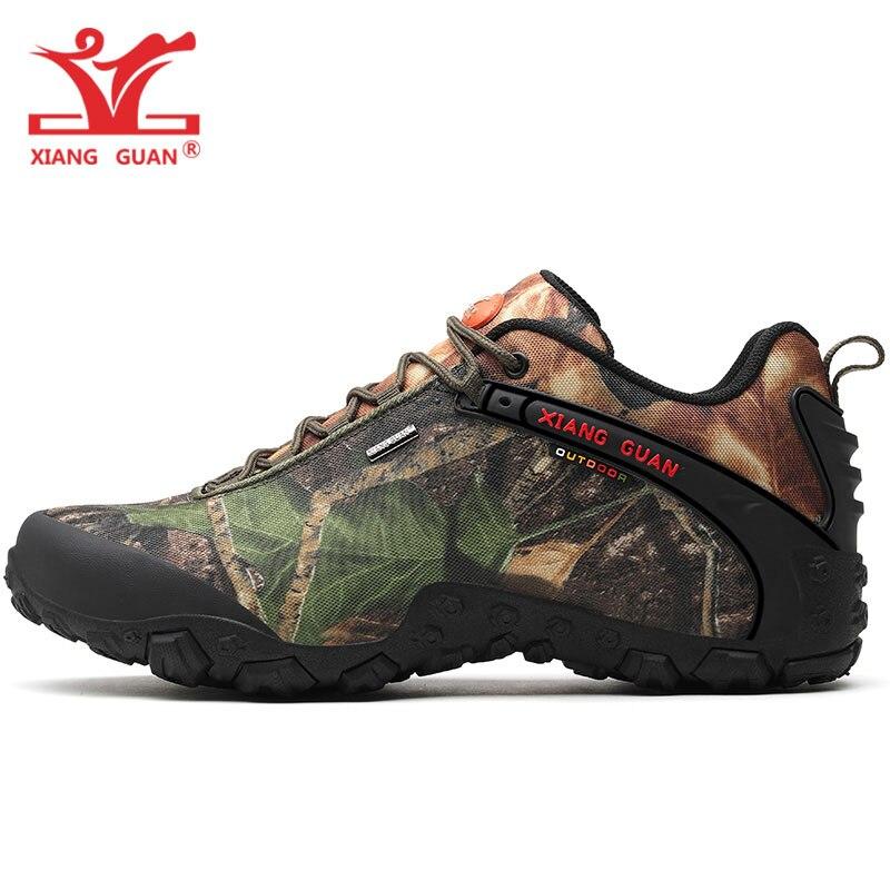 XIANG GUAN New Woman Hiking Shoes Men Waterproof Trekking Boots Green Zapatillas Sports Climbing Shoe Outdoor