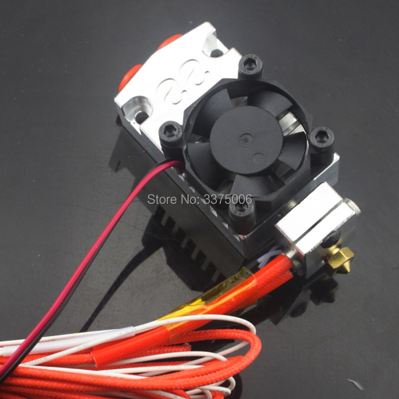 3d printer parts 12v/24v Cyclops and Chimera Extruder 2 In 1 Out 2 colors Hotend Bowden with Titan / Bulldog Extruder i3 light bulldog extruder