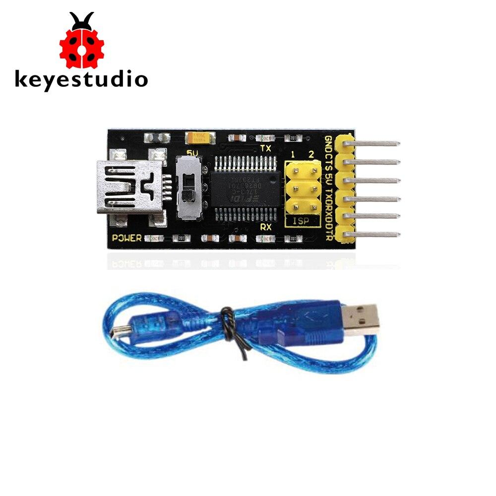 Keyestudio FTDI(original chips) Basic Program Downloader USB to TTL FT232+USB cable for ArduinoKeyestudio FTDI(original chips) Basic Program Downloader USB to TTL FT232+USB cable for Arduino