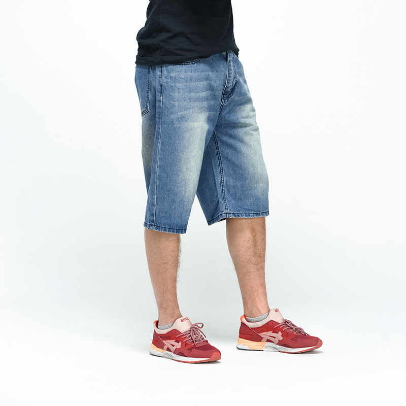 Jeans Shorts Clothing Breeches Long Male Plus-Size Summer Denim Blue 46 44 Loose 40-42
