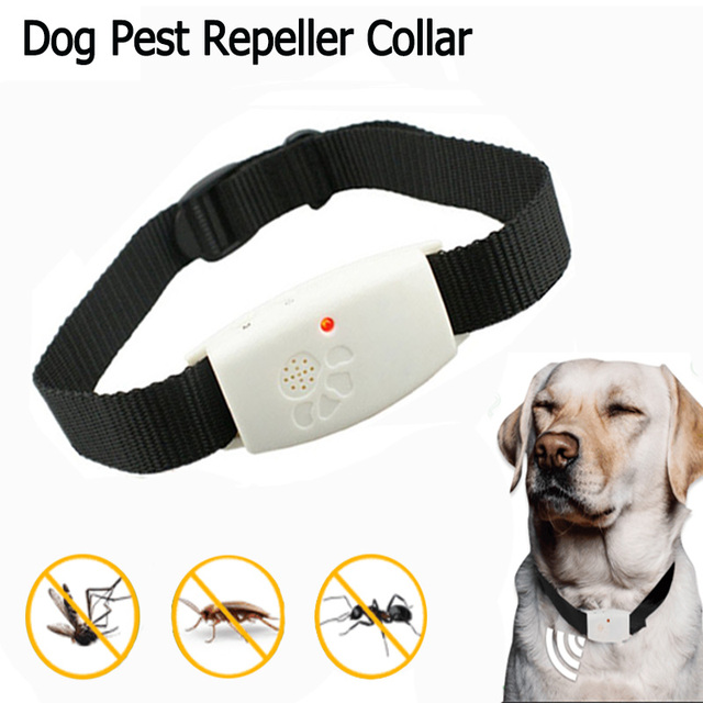 Pet Ultrasonic Anti Flea and Tick Collar Dog Repeller Pet Pest Remover Nylon LED Dog Cleaning Tool Remedy Pet Supplies