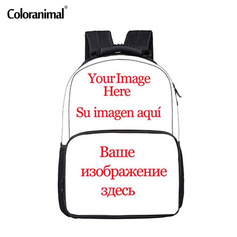 Coloranimal Welcome Custom Unisex Backpack Men Women Travel Bagpack Cool 3D Print Children Boys Girly School Back Pack Rucksack