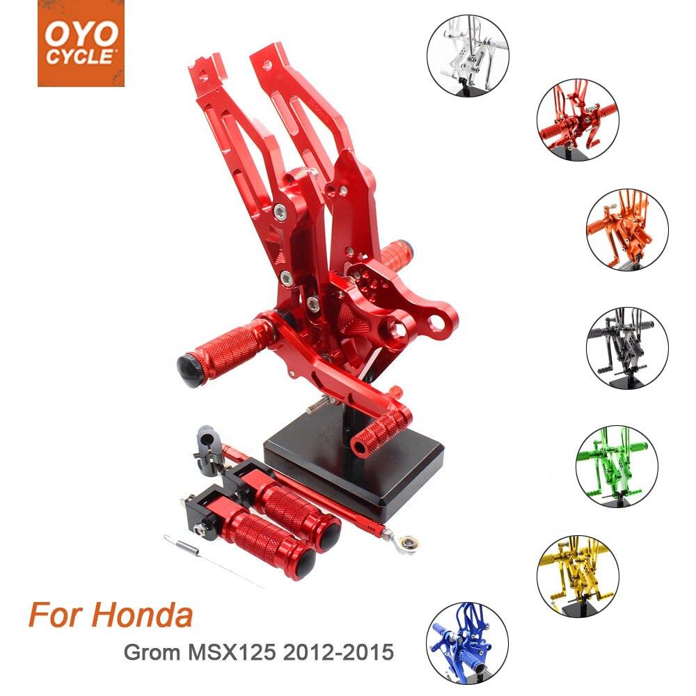 For Honda MSX125 2012-2015 Motorcycle Rear Set Accessories CNC Adjustable Rearset Foot Pegs MSX125 Foot Rests Footpegs