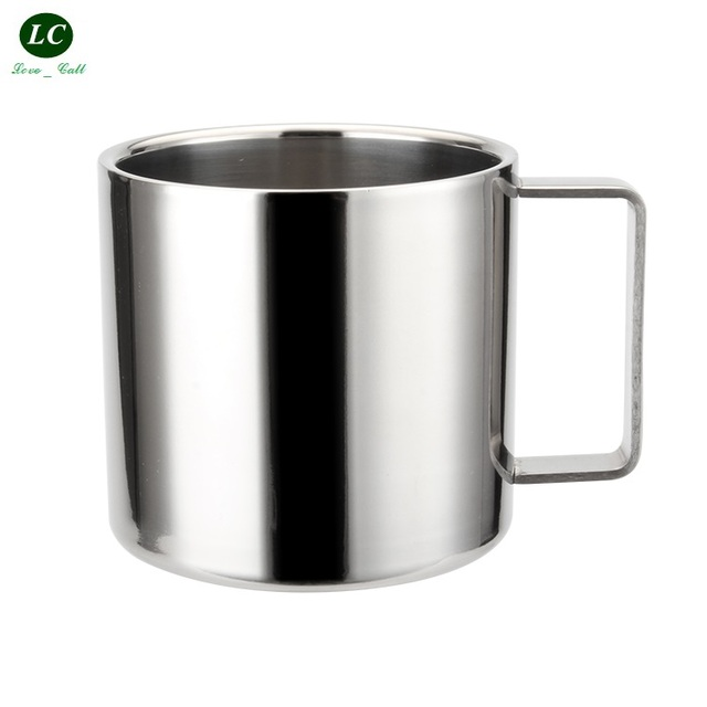 Drinkware Mugs 304 Ss Water Cup Kindergarten Coffee Double Wall Thick Anti