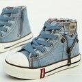 Retail criancas habilidades DE especialistas sapatos casuais sapatos meninos meninas sapatos DE lona crianca Denim sapatilhas da