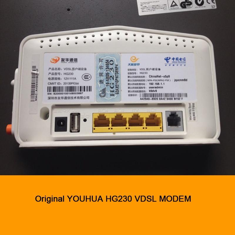 Original YOUHUA HG230 telecommunications VDSL MODEM 4 port