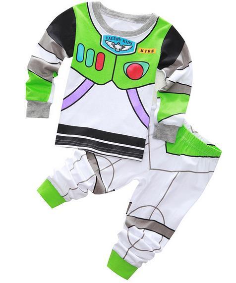 New Kids Pajamas Baby Spiderman Pajamas Girls Toy Story Pyjamas  Children Cartoon Sleepwear Boys Captain America Pijamas