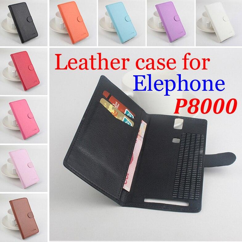 380dd5d28 Marca Litchi grano para Elephone P8000, funda de cuero de alta calidad con  la carpeta para el caso de Elephone P 8000