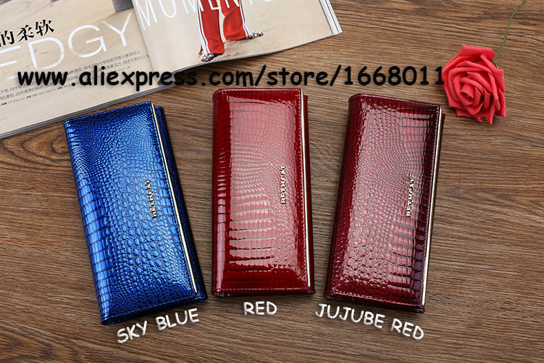 Women Wallets Brand Design High Quality Leather Wallet Female Hasp Fashion Dollar Price Alligator Long Women Wallets And Purses_6320-1