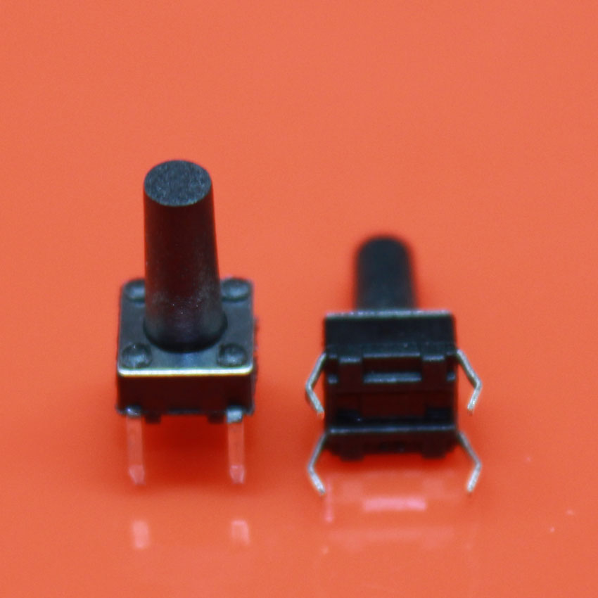 Cltgxdd 50PCS/Lot Micro Switch 6X6X12 Mm DIP-4 Tactile Tact Mini Push Button Switch Momentary 6*6*12 Mm
