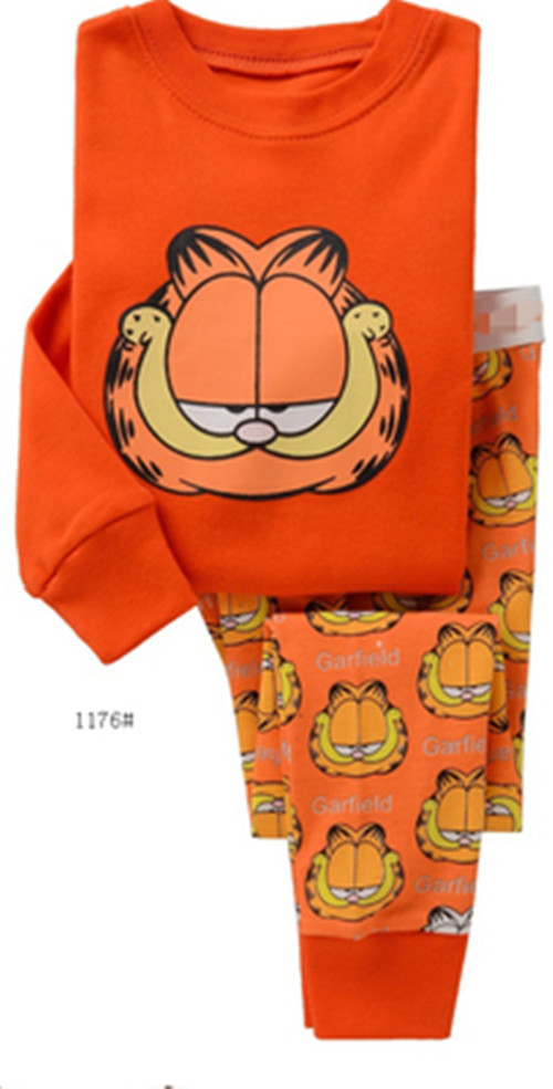 New Cartoon Kids Cat Pajamas Set Boys Long Sleeve Spring Autumn Sleepwear Clothing Baby Lovely Pyjamas Suit Children Costumes baby nightwear pajama suit for children pajamas for boys with long sleeve kids pjs sleepwear set children s clothing 1 2 4 year