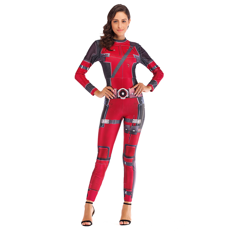 Deadpool Cosplay Costumes Women Jumpsuits Wade Wilson Cosplay Streetwear Adults Festive Party Christmas Carnival Fancy Clothes