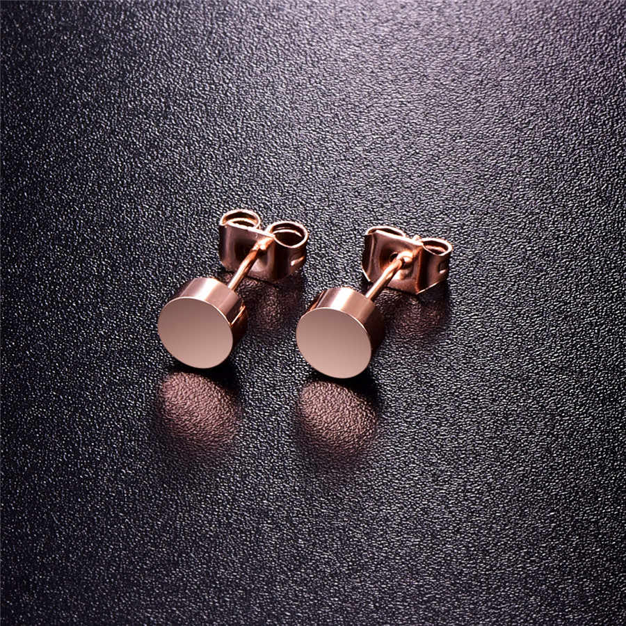 89823b281 ... Martick Hot Sale High Quality Fashion Jewelry Stainless Steel Wishing  Mini Oscars Beans Round Stud Earrings ...
