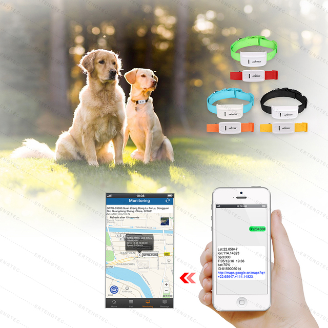 Mini Pet Dog GPS Tracker TK909 Tracking Device GPS Locator Waterproof  400hours Standby Time Free IOS Android App Web Tracking