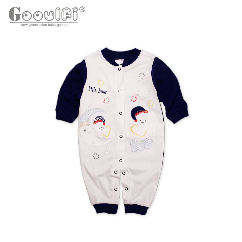 Gooulfi Baby Rompers Unisex Character Romper Cotton Full Baby Clothes New Born Baby Clothes Unisex Winter Romper db5033 dave bella summer new born baby unisex rompers cotton infant romper kids lovely 1 pc children romper