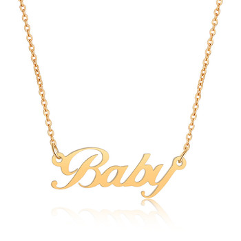Personalized Custom Name Necklace Jewelry Women Men Gold Rose Color  Choker Necklaces Pendants Bridesmaid Gifts